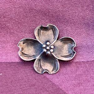Vintage Sterling Stuart Nye Dogwood Blossom Brooch